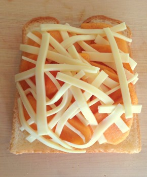 柿トースト作り方